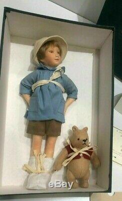 R. John Wright Dolls CHRISTOPHER ROBIN & Pocket WINNIE-THE-POOH