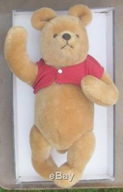 R. John Wright Dolls / Walt Disney Co. Jointed Mohair Winnie The Pooh Bear 18