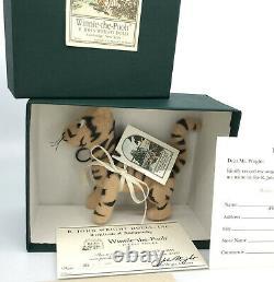 R John Wright Pocket Pooh Eeyore Piglet Tigger Set 4 Matched LE3500 1990s Mohair
