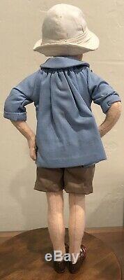 R John Wright Winnie the Pooh Christopher Robin Felt Doll LE in Box with CoA