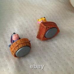 RARE Disney Winnie the Pooh Musical Box Spins Figures Statue Figurines-MIB