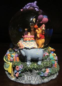 Rare Disney Winnie The Pooh Tigger Piglet Happy Birthday