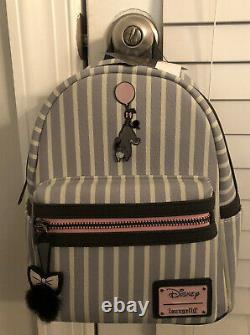 RARE! NEW WITH TAGS! Loungefly Disney Winnie Pooh Eeyore Striped Mini Backpack