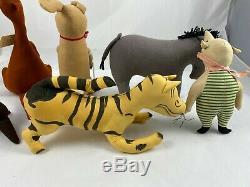 RARE Vintage AGNES BRUSH Winnie The Pooh Set Pre Disney Stuffed Animals EXC COND