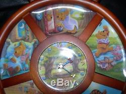 RARE Vintage Winnie the POOH 6 Collectible PLATES with Serial # on WALL CLOCK