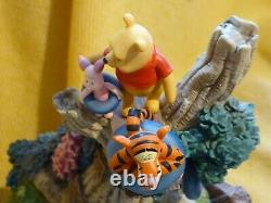 RARE Winnie The Pooh, Piglet & Eeyore tigger swimming spot pool water feature