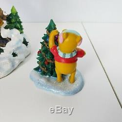 Rare Disney Winnie Pooh Tree House Christmas Decoration Light Up Statue