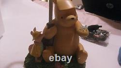 Rare Disney Winnie The Pooh & Piglet Under Umbrella Collectible Lamp New lmp1