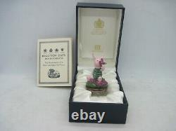 Rare Halcyon Days enamel Disney Winnie the Pooh Piglet bonbonniere figure boxed