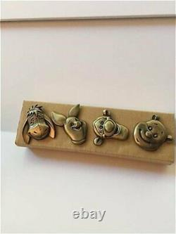 Rare Winnie the Pooh Tigger Eeyore Piglet 1ea Drawer Handle Brass Pull Knobs Set