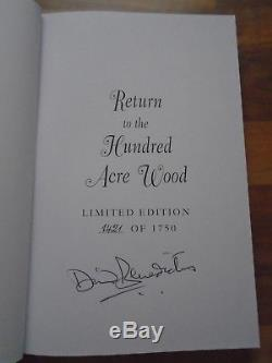 SIGNED 1st EDITION WINNIE THE POOH. RETURN TO THE HUNDRED ACRE WOOD. A A MILNE