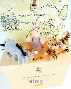 STEIFF Disney Mohair Classic Pooh Set Piglet Tigger Eeyore Limited Edition 2002