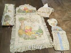 Set Vintage Classic Winnie the POOH Crib Bedding Nursery LOT