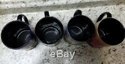 Set of 4 Disney Silhouette Mugs Peter Pan Winnie the Pooh Mary Poppins Mickey