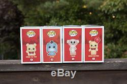 Set of 4 Funko POP Winnie the Pooh + Tigger + Eeyore + Winnie the Pooh Flocked