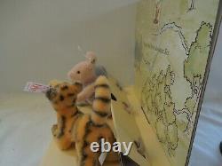 Steiff Classic Winnie The Pooh Miniature Set LE 2002-Tigger, Eeyore and Piglet