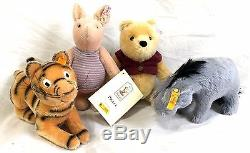 Steiff Disney Winnie the Pooh Limited Edition Set of 4 Pooh Tigger Eeyore Piglet