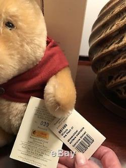 Steiff Winnie The Pooh Blond Mohair In Box L. Ed Yr 1999 #3998 new w tkt on btm