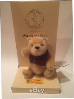 Steiff Winnie The Pooh Ean 680090 75th Anniversary Pooh-for 2001 -7 Mohair