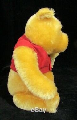 Steiff Winnie the Pooh Jointed Stuffed Animal in Orig Box Ltd Ed #2277/10000