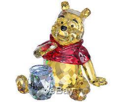 Swarovski #1142889 Disney Winnie The Pooh Brand Nib Crystal Bear Honey Cute F/sh