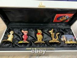 Swarovski Crystal Disney Arribas Set Winnie The Pooh Rabbit Piglet Pooh Eeyore