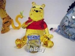 Swarovski Disney 4 Pc Winnie The Pooh Color Set Pooh Eeyore Tigger Piglet Bnib