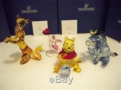 Swarovski Disney Winnie The Pooh 4 Pc Color Set Pooh Eeyore Tigger Piglet Bnib