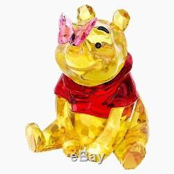 Swarovski Disney Winnie The Pooh Bear With Butterfly Crystal Figurine 5282928