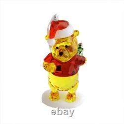 Swarovski Disney Winnie The Pooh Christmas Ornament #5030561 B Nib Crystal F/sh