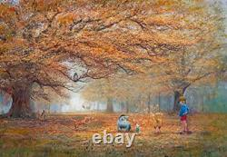 Tenyo 1000 Piece Jigsaw Puzzle Disney Winnie the Pooh The joy of autumn leaves
