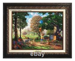 Thomas Kinkade Studios Winnie The Pooh II Canvas Classic (Aged Bronze Frame)