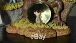 Unique Chance Winnie The Pooh 75th Anniversary Snowglobe Figurine Mint Condition