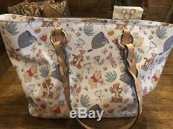 Used Disney Dooney & Bourke Winnie The Pooh Tote Tigger Eeyore & PALS