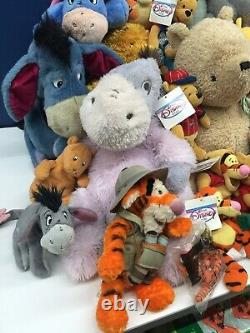 VTG & Modern LOT 62 Disney Winnie the Pooh Plush Eeyore Tigger Rabbit Piglet