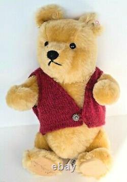 VTG STEIFF Walt Disney Winnie the Pooh SIGNED Mohair NEW WithTAGS 1994 RARE