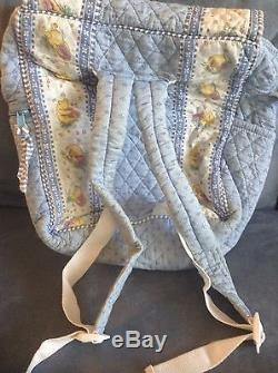 Vera Bradley Blue (winnie The) Pooh Backpack With Adjustable Straps Rare