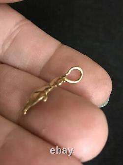 Vintage 14k Yellow Gold Winnie the Pooh Bear Collectible Pendant 1.1gr