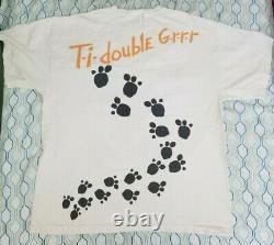 Vintage 90s Disney Tigger Big Face T Shirt All Over Print Winnie the Pooh XL