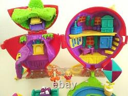 Vintage Disney Polly Pocket Playset Winnie The Pooh Red Balloon With Figures