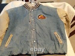 Vintage Disney Store WINNIE THE POOH Varsity Jean Denim Jacket XXTentacion Sz 2X