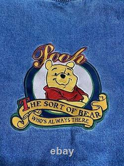 Vintage Disney Store Winnie The Pooh Varsity Jean Denim Jacket XXXTentacion SZ M