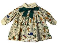 Vintage Disney Winnie the Pooh Characters Girls Size 3 Sears Dress