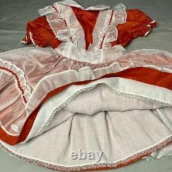 Vintage Girls Dress Winnie the Pooh Brand Sheer Full Circle Sz 5 Red White