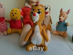 Vintage Lot Set of 8 Winnie the Pooh Walt Disney Sears 6 Christoper Robin 18