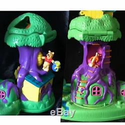 Vintage Polly Pocket Winnie The Pooh 100% COMPLETE 100 Acre Wood House Playset