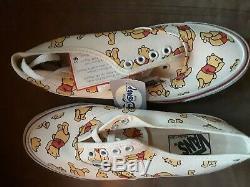 Vintage VANS Disney Winnie The Pooh Sneakers Made In USA Sz 7 Women's NWT