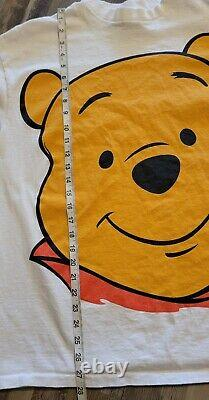 Vintage Vtg Disney Winnie The Pooh Big Face 90s Cartoon Disney T Shirt OSFA L/XL