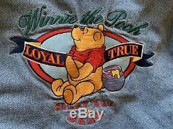 Vintage Winnie The Pooh Denim Varsity Jacket