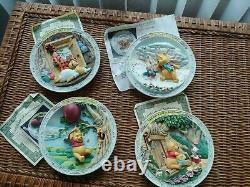 Vintage Winnie the Pooh 3D Plates Set of 11